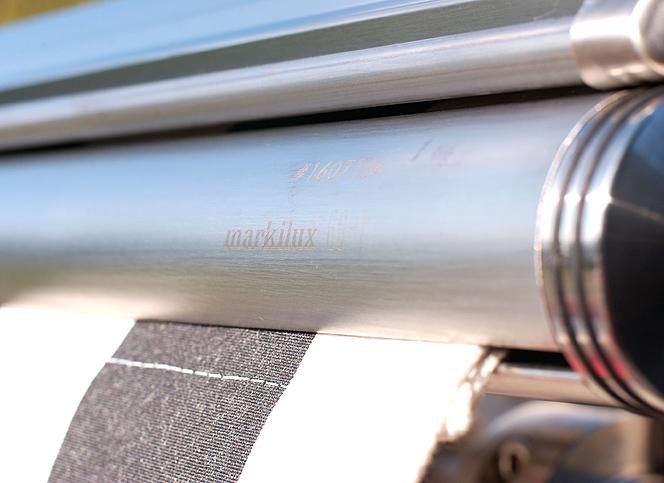 Tenda da sole Markilux ES-1: l'unica tenda da sole interamente in acciaio INOX