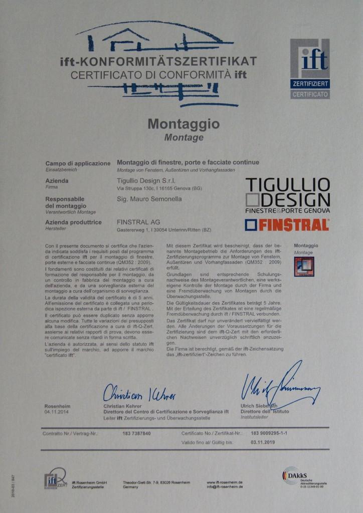 Posa certificata Finstral IFT: Tigullio Design è fra i primi 15 rivenditori in Italia