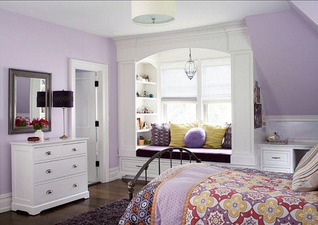 camera da letto pareti colore lilla